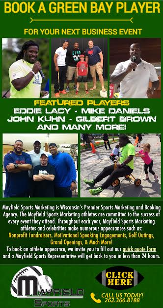 Book a Green Bay Player for your Next Event