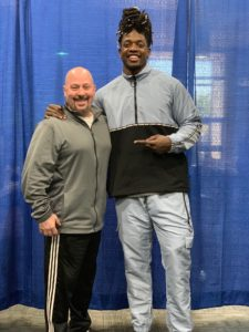 Mayfield Sports CEO, Mark Mayfield and Chargers Pro Bowl RB Melvin Gordon at a recent event in LA.