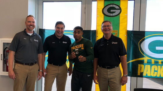 Jaire Alexander with Gross Motors team
